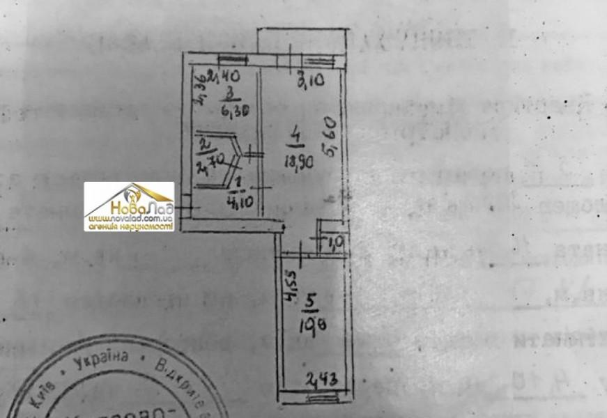 Двухкомнатная квартира на Печерском спуске, 45 м2