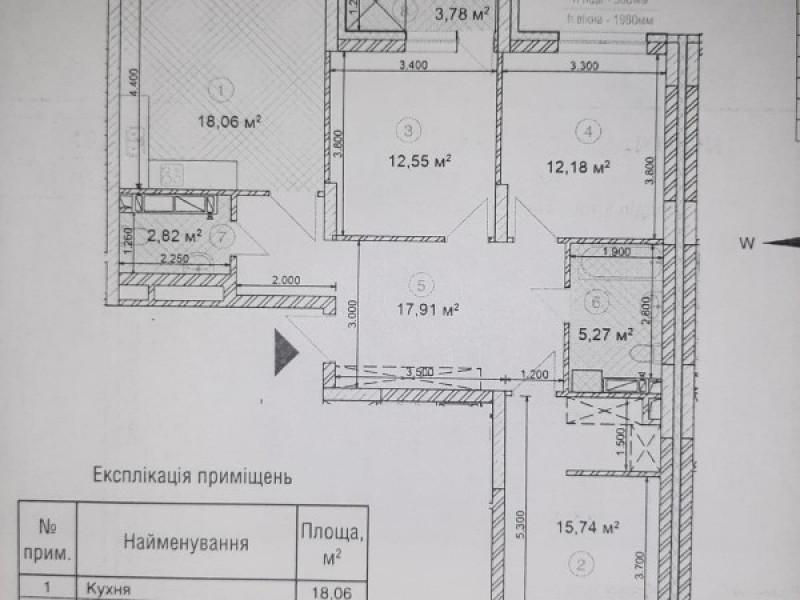 3 комнатная квартира ЖК SKY AVENUЕ от застройщика «ИНТЕРГАЛ- БУД»